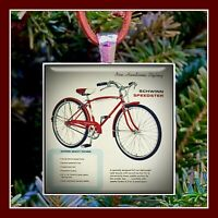 Vintage Schwinn Speedster Bicycle Ad Photo Pendant Christmas Ornament Gift