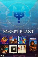Led Zeppelin Robert Plant 1990 Back Catalog Original Promo Poster