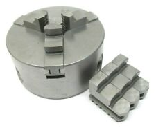 Bison 4 Three Jaw Lathe Chuck With Plain Back Mount Id Amp Od Jaws S100zj