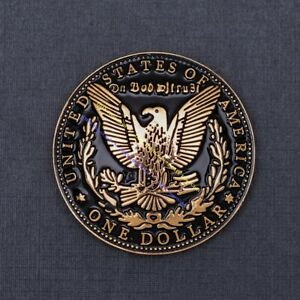 """10pc Gold Heavy Eagle Dollar Replica Coin Leathercraft Belt Wallet Concho 1-1/2"""""""
