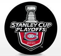 MONTREAL CANADIENS 2021 NHL PLAYOFFS HOCKEY PUCK STANLEY CUP FINAL 1ST 2ND ROUND
