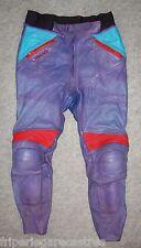 VINTAGE Pantalon CUIR Moto REUSCH, Taille 42 ----- (PMH_035)