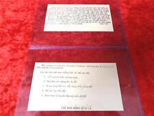 Vietnam War Original Authentic Psyop Propaganda Leaflet Free Same Day Shipping