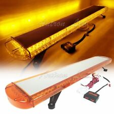 "47"" 96 Led Emergency Beacon Warning Strobe Light Bar Amber Lens Safety Tow Truck"