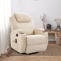 Massage Recliner Vibrating Recliner with Heat Function and Remote