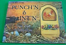 PUNCH'N & PAINT'N CAROL & PHILLIP MYER 1980 HAUSER ACRYLIC OIL PAINT BOOK
