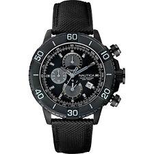 Orologio Nautica Cronografo Pelle e Resina Grigio Uomo A20062G