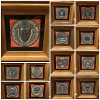 State Seals of the Original 13 States Quilted & Framed (missing NJ) Wall Art