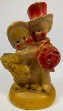 1940's Mini Chalkware Chalk Ware Carnival Prize Bride & Groom Man /Woman Statue