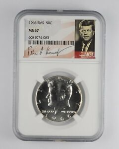 1966 MS67 SMS Special Mint Set Kennedy Half Dollar NGC Graded *024