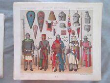 Vintage Print,EUROPE,DE GUERRE,Costume,Historique,1888,Racinet