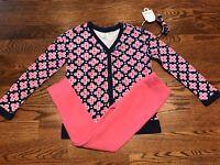 Gymboree Girls Flower Cardigan, Pink Sweatpants & Matching Headband NWT GYM14&16