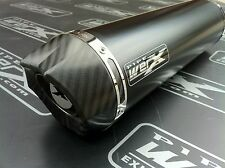 Yamaha XJR 1200 Pair of Black Round, Carbon Outlet, Exhausts Cans, Silencers.