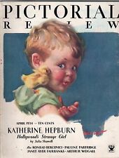 1934 Pictorial Review April - Nell Hott; Katherine Hepburn; Marie Stopes; France