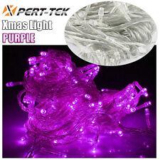 50ft 200LED Purple Christmas Wedding Decor Outdoor Fairy String Light Lamp