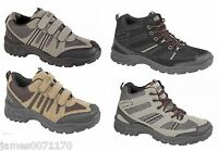 Mens shoes velcro fastening walking hiking Trail Trainers  size 6 7 8 9 10 11 12