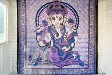 Indian Tapestry Wall Hanging Large Mandala Ganesh Bed Tapestries Purple Boho Uk