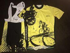 Men's Cycling Bib Shorts Jersey Set Kit Aogda 3XL