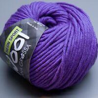 Lana Grossa McWool Neon Sport 107 violett 50g Wolle (6.50 EUR pro 100 g)