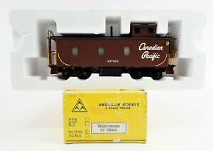AMERICAN MODELS S GAUGE 7504A CANADIAN PACIFIC WOOD CABOOSE #437051