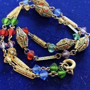 Vintage Harlequin Tutti Fruity Czech / Italian Glass Necklace