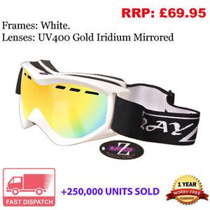Rayzor Ski Snowboard Goggles 100% UV400 Antifog Double Lens Model RIWTGO.RRP£69