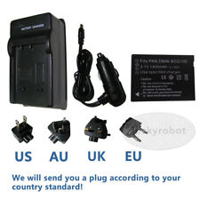 Battery + Charger for Panasonic Lumix DMC-TZ25 DMC-TZ30 DMC-TZ35 Digital Camera