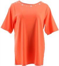 Quacker Factory Set 2 camisetas naturaleza Náutica Coral LT Azul Marino XXS NUEV...