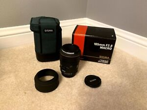 Sigma EX 105mm F2.8 D Macro Lens For Nikon with Soft Case