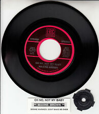 """MAXINE BROWN  Oh No, Not My Baby & DIONNE WARWICK Don't Make Me Over 7"""" 45 NEW"""