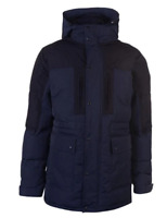 FIRETRAP PARKA JACKET Navy/Black Mens Size UK S *REF102