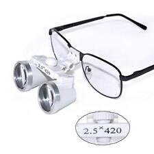 Dental Surgical Medical  Binocular Loupes 2.5X 420mm Optical  Loupe metal frame