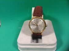 Vintage Timex Self -Wind Men's Wrist Watch gold case leather band