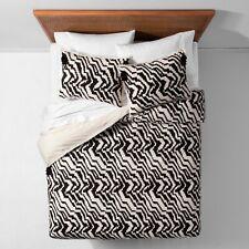 New Mallorca Ikat Duvet Cover Set - Opalhouse Black White Zigzag Tassles Twin Xl