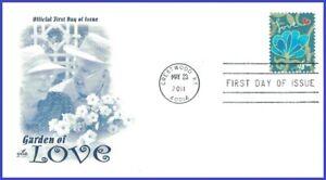 USA5 #4536 U/A ARTCRAFT FDC   Garden of Love - Blue Flower
