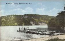 Devil's Lake WI Kirkland Landing c1910 Postcard