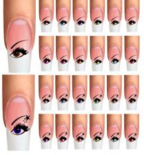 Wraps Nail Art Nail Tattoos AUGEN EYES mit Sterne Stars  verschiedene Farben