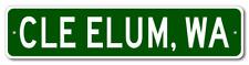 CLE ELUM, WASHINGTON  City Limit Sign - Aluminum