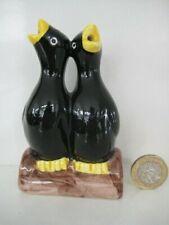 More details for rare vintage english pottery artone? novelty double black bird pie funnel vent