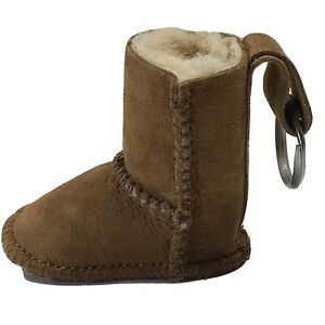 UGG Authentic Australian Sheepskin Boot Key Chain Chestnut UGGS Free Shipping