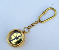 Compass Key Chain Nautical Vintage  Ring Nautical Brass Compass London Engraved