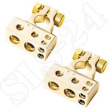 ACV Batterieklemme vergoldet Pluspol-Minuspol 1x35 mm² + 1x20 mm² + 2x10 mm² SET