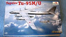 "Tupolev TU-95M/U  NATO code ""Bear"" model kit   1/72 Amodel # 72032"