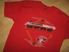 Cincinnati Reds Tee - Vintage 1980's Usa Ohio Baseball Mr Red Mascot T Shirt Xlg
