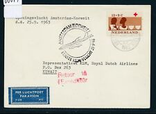 08874) Niederlande KLM FF Amsterdam - Kuwait 25.9.63, Karte 12c. Rotes Kreuz