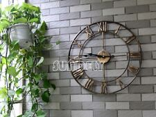 Large Wall Clock 47cm BERTHA Metal Industrial Big Vintage French Provincial