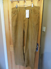 "mens tan corduroy straight leg trousers w36""x L32"" POLO RALPH LAUREN used"