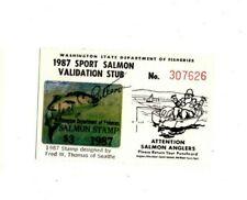 1987 Washington State Salmon License Stamp Tag #307626