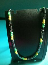 Jamaican Colours Hematite and Seed Beads Necklace