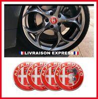 X4 Logo Jante Pneu roue sticker Alfa Roméo 159,gt,brera,mito,147,Giulietta